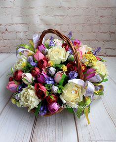 Купить Букет из конфет Фантазия - кремовый, выпускной, день рождения, подарок на любой случай