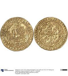 England: Edward III. Münze Edward III. (1327-1377), König von England, 1327-1365 und 1372-1377 Herzog von Aquitanien, Königtum, Münzherr 1361-1369 Land: Frankreich (Land) Region: Pas-de-Calais (Region) Münzstätte/Ausgabeort: Calais Fundort: Deutschland (Land) Fundort: Köln (Ort) Nominal: Noble, Material: Gold, Druckverfahren: geprägt Gewicht: 7,69 g Durchmesser: 34 mm