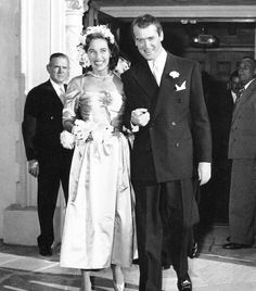 Jimmy Stewart and Gloria McLean married in August 1949, when Stewart was 41 years old.  They were married for 45 years - a rare thing for a Hollywood marriage!