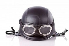 Classic novelty motorcicle helmet & aviator motorcycle glasses
