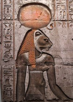 Sekhmet. From wall of Kom Ombo Temple, Egypt