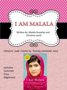This engaging novel, I Am Malala by Malala Yousafzai, will really get your students thinking. Its perfect to engage students in higher order thinking and discussion activities.  This is also a great novel to teach the skill of using evidence from the text to support opinions.