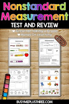 Are you looking for a way to assess your students with their math skills? Well, this Non-standard Measurement Review and Test are about Temperature, Capacity, Weight, and Area is perfect for kids in kinder, first grade, and second grade! Also, a great resource to take home and practice. This printable resource includes review, test, and answer keys. #math #measurement #nonstandard #area #weight #capacity #temperature Fun Math Activities, Math Resources, First Grade Assessment, Nonstandard Measurement, Hands On Learning, Math Skills, Second Grade, Keys, Students