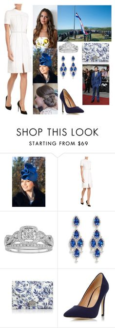 """""""Attending the raising of the flag at Knin Fortress"""" by hrh-amelia-of-croatia ❤ liked on Polyvore featuring Burberry, Modern Bride, CZ by Kenneth Jay Lane, Loeffler Randall and Dorothy Perkins"""