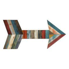 Slatted Wood Plank Arrow Plaque | Kirklands