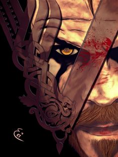 My second fav character in the Vikings series, Floki Ragnar Lothbrook, King Ragnar, Vikings Show, Vikings Tv Series, Viking Wallpaper, Viking Series, Dark Art Illustrations, Floki, Rick Y