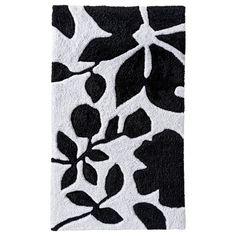 Room Essentials Floral Bath Rug BlackWhite X New - Black and white floral bath rugs for bathroom decorating ideas