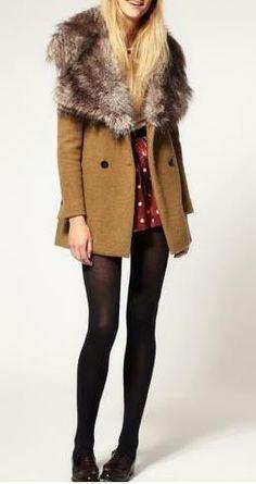 Faux Fur Lapel Collar.  So stunning.