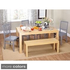 Simple Living Solano 6-piece Dining Set with Bench