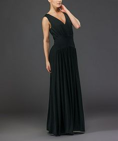 Take a look at this Black Sleeveless Maxi Dress by Biacci on #zulily today!