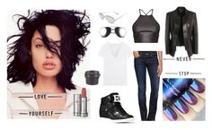 """Sporty -Rock sexy look"" by katecrazyfox on Polyvore featuring мода, Calvin Klein, James Perse, Lancôme, Linda Farrow, Alexander McQueen, MICHAEL Michael Kors и Hermès"