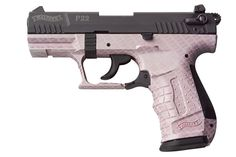 Walther Arms P22; Pink with Carbon-Fiber pattern