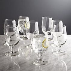 Sale ends soon. Shop Boxed Water Goblets, Set of Entertaining essentials for stylish sipping. It's never too soon to stock up on the dinner and party basics that you'll use throughout the year for planned and impromptu entertaining. Box Water, Water Glass, Clear Glass, Kitchen Items, Kitchen Decor, Kitchen Tools, White Wine Glasses, French Wine, Dinner Sets