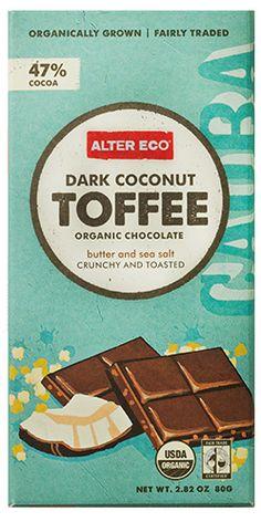 Alter Eco Dark Coconut Toffee Organic Chocolate- yumm!