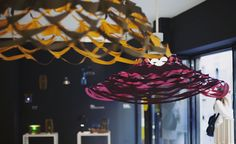 Another Artemide launch to capture the imagination of many on Instagram were the Les Danseuses lights. Governed by the same physics of hurricanes, they use inertial forces to spin around and create whirling waves. In truth they look more like the skirts of dancers, twirling away