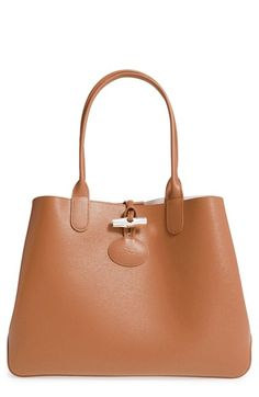 Longchamp  Roseau  Reversible Leather Tote available at  Nordstrom Reversible  Tote Bag 62fe737209064