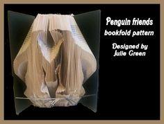 Penguin friends by Bookfoldanddecoupage on Etsy