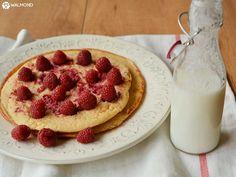 Panqueca com Kefir... Uma boa ideia para o pequeno-almoço. Comece bem o dia e delicie-se com uma refeição nutritiva, saudável e que lhe dá energia para a sua manhã