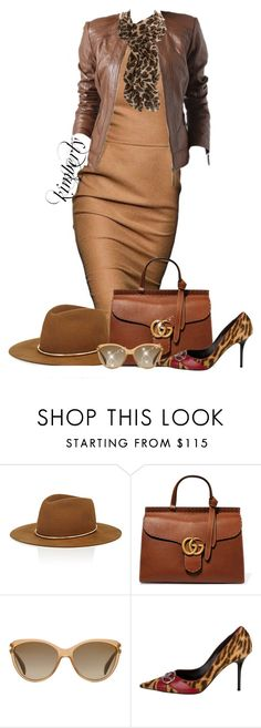 """Fall Browns"" by cavell ❤ liked on Polyvore featuring Janessa Leone, Gucci, Promod, Prada and Christian Dior"