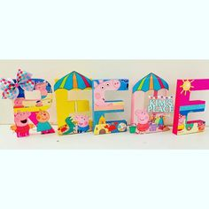 """Kims Place Designs on Instagram: """"The lighting has not been cooperative these days. 😩 This was the best shot I got of this beautiful #peppapigbeachparty letters.…"""" Peppa Pig Party Supplies, Peppa Pig Birthday Cake, Beach Party, Birthdays, Kids Rugs, Party Ideas, Letters, Lighting, Beautiful"""