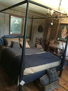 Beautiful Bed & Primitives in this Bedroom!