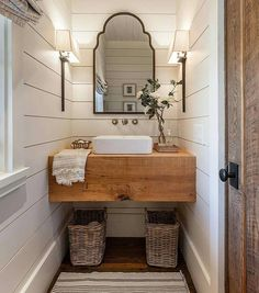 "1,081 Likes, 15 Comments - Tammy (@ourburlapbungalow) on Instagram: ""Everything about this bathroom shared by @homebunch just speaks to me! The lighting and…"""