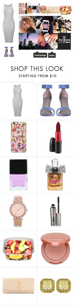 """""""Own it~Drake"""" by bank1mamii ❤ liked on Polyvore featuring Glamorous, Isaac Mizrahi, MAC Cosmetics, Butter London, Juicy Couture, Michael Kors, Benefit, tarte and Yves Saint Laurent"""