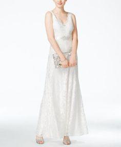 12b5d730de B Darlin Juniors  Embellished Scalloped-Lace Gown   Reviews - Dresses -  Juniors - Macy s