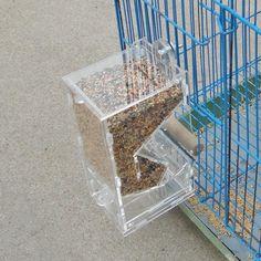 Clear Plastic Automatic Bird Seed Feeder