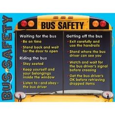 This pin helps best understand the importance of school bus safety for children. This is important to teach so that the kids are aware of their surroundings while at a bus stop or on a bus -KW School Bus Driving, School Bus Safety, School Buses, School Gifts, School Fun, Back To School, School Stuff, School Ideas, Safety Week