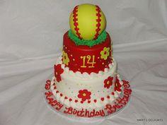 softball cakes   Girl's Softball birthday cake   Flickr - Photo Sharing!