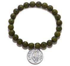 Connemara Marble Lucky Penny Stretch Bracelet