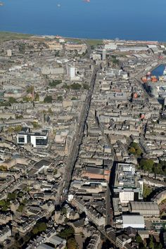 Aerial view of Aberdeen city centre. Commissioned as part of our redevelopment of The Capitol. Aberdeen Scotland, City By The Sea, Silver City, Those Were The Days, North Sea, Amazing Pictures, Aerial View, Old Photos, Countryside