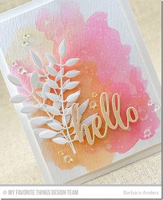 Hello–Color Throwdown Hello–Color Throwdown Hello and welcome to this week's Color Throwdown Challenge ! Broni has chosen a lovely pastel color palette for us to work with. Tarjetas Stampin Up, Stampin Up Cards, Scrapbooking, Scrapbook Cards, Cute Cards, Diy Cards, Craft Cards, Pretty Cards, Watercolor Cards