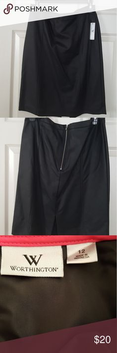 🎗Women's faux leather skirt Brand new with tag faux leather shirt Worthington Skirts Pencil