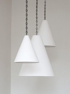 Plaster Cone Hanging Light by Rose Uniacke in Suspended & Pendant Lights Suspended Ceiling Lights, Hanging Lights, Ceiling Lighting, Ceiling Fans, Rose Uniacke, 3d Light, House And Home Magazine, Pendant Lamp, Large Pendant Lighting