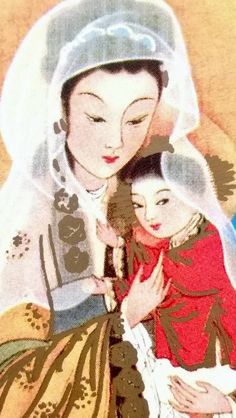Our lady of China. Mother and child