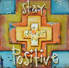 ART PRINT Positivity cross Christian by dannyphillipsart on Etsy