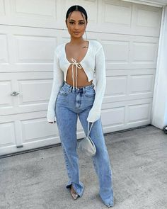 romantic date outfit Stylish Outfits, Cute Outfits, Fashion Outfits, Womens Fashion, Fashion Trends, 90s Fashion, Fashion Ideas, Cropped Cardigan, Open Cardigan