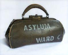 Antique 1800's Insane Asylum doctors medical bag | Medical Bag ...