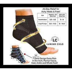 00723f3b53 Orthopedics & Supports Foot Angel Compression 2 Sleeve Anti Fatigue Arch  Heel Plantar Relief (S/Ml/Xl)