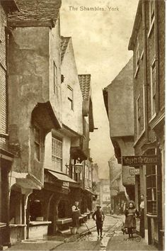 Yorkshire, York, The Shambles Amazing still today. Olde world sweet shops Cobbled streets. So many happy childhood memories Yorkshire England, Yorkshire Dales, North Yorkshire, York Uk, York England, Uk History, British History, Family History, England Ireland