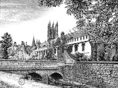 Magdalen College (from Gardens)