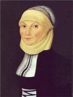 Portrait of Katharina Luther, 1528, Lucas Cranach the Elder, Saxony, Germany