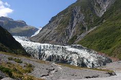 The Fox Glacier is a 13 km long glacier located in Westland Tai Poutini National Park on the West Coast of New Zealand's South Island.