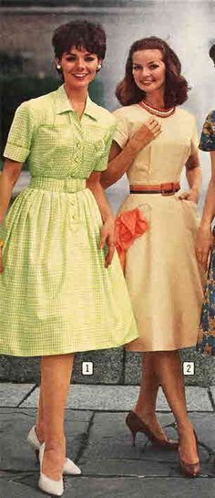 """""""Fashion in 1962 was notable for the wide untie of color, silhouette, and fabric presented by American designers. For every type, from the avantgarde to the ultrafashionable, a new free movement and femininity were expressed."""" quote paperpast.com"""