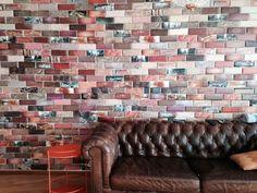 Надоели белые стены дома, создаем попарт стену из самодельных кирпичей, материалы самые доступные: картон, бумага, клей.  Pop Art