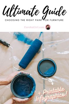 Want to revamp your furniture but have no idea which paint for furniture to use? There are chalk paint, milk paint, mineral paint, latex paint and oil paint. With this guide, you can be confident at tackling ANY furniture painting project, trust me! #paintedfurniture #furniturepainting #upcycledfurniture #howto #diyfurniture #furnituremakeovers Illustrator Tutorials For Beginners, Good Tutorials, Furniture Painting Techniques, Painting Tips, Affinity Designer, Paint Drying, Mineral Paint, Diy Furniture Projects