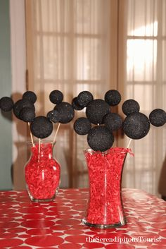 The Serendipitous Tourist: Mickey Centerpieces, Disney party, Mickey Mouse