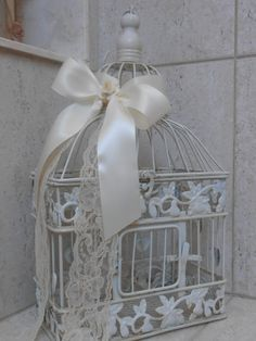 Wedding Birdcage / Card Box / Wedding Decoration / by TheLaceMoon